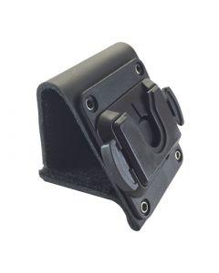 Ledergürtelschlaufe mit Aufnahme für Rotationsclip / Durchlass Gürtel 60mm