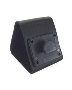 Ledergürtelschlaufe mit Halbmond-Vaterteil / Durchlass Gürtel 65mm
