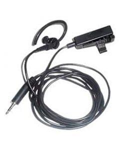 Tarnmikrofon kombiniert mit PTT-Taste und Ohrhörer mit 3,5mm Stecker, schwarz