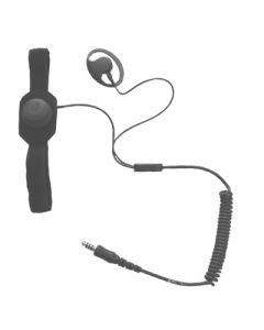 Kehlkopfmikrophon und Ohrhörer, 6,5mm Nexusstecker