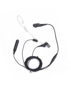 Tarnmikrofon-Set mit separater Sendetaste und Schallschlauch (schwarz)