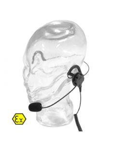LH-ATEX Ohrhörer mit Lippenmikrofon und Nackenbügel, Nexus 6,5mm