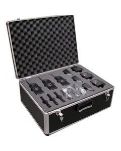 FBI - Einsatzkoffer bestückt mit Funkgeräten, Akku , Ladegeräte und FBI-Sprechgarnitur