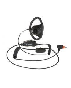 Verstellbarer D-Style-Ohrhörer mit Inline-Mikrofon/PTT