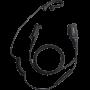 Ohrhörer mit Ergo-Ohrbügel, Sendetaste mit Mikrofon