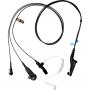 Tarnmikrofon kombiniert mit PTT-Taste und Ohrhörer mit Spiralschlauch / FBI -3-Kabel / schwarz